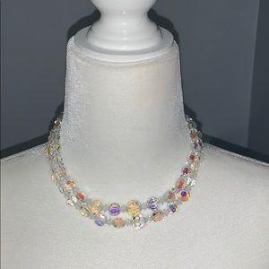 Vintage Aurora Borealis  double strand necklace